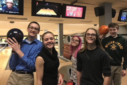 Ignite Youth Group Members Bowling